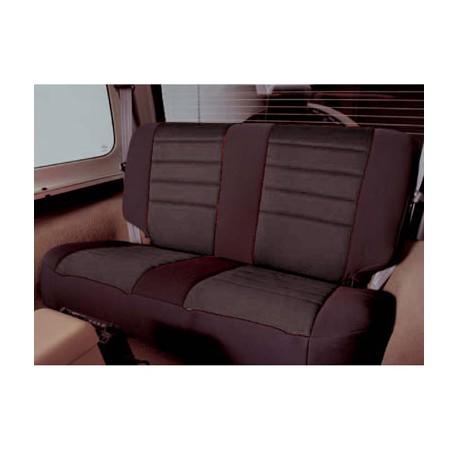 Rear Seat Cover Neoprene Black Smittybilt - Jeep Wrangler JK 2D