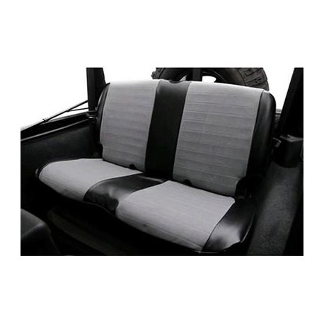 Rear Seat Cover Neoprene Gray-Black Smittybilt - Jeep Wrangler JK 2D