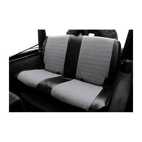 Rear Seat Cover Neoprene Gray-Black Smittybilt - Jeep Wrangler JK 2D