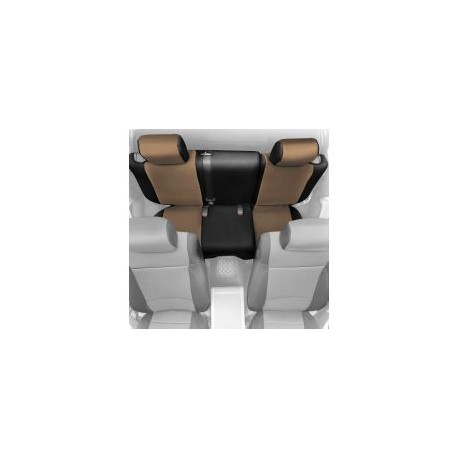 Rear Seat Cover Neoprene Light Tan Smittybilt - Jeep Wrangler JK 4D - Jeep Wrangler JK 2D