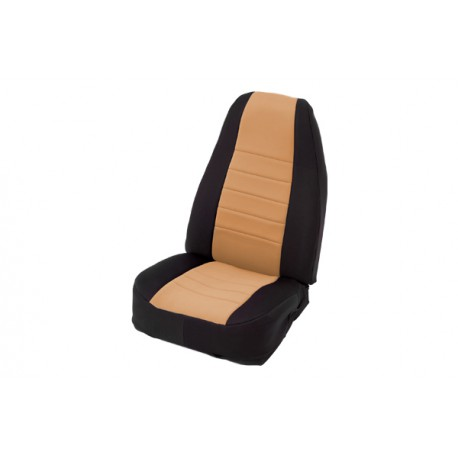 Front Seat Covers Neoprane Light Tan Smittybilt - Jeep Wrangler TJ 97-02