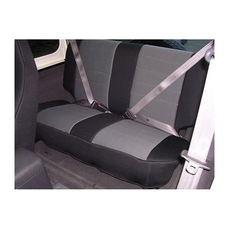 Rear Seat Cover Neoprene Gray-Black Smittybilt - Jeep Wrangler TJ 97-02