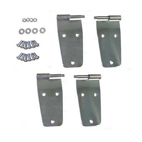 Stainless Steel Door Hinge Set Smittybilt - Jeep Wrangler YJ