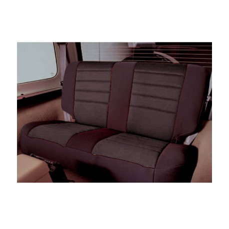 Rear Seat Cover Neoprene Black Smittybilt - Jeep Wrangler YJ