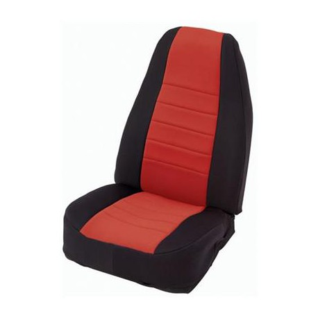 Front Seat Covers Neoprane Red-Black Smittybilt - Jeep Wrangler YJ 91-95