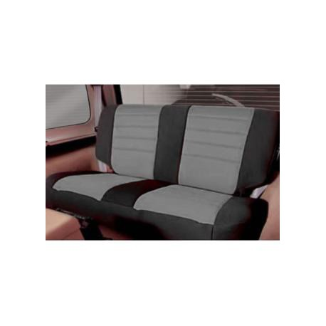 Rear Seat Cover Neoprene Gray-Black Smittybilt - Jeep Wrangler YJ
