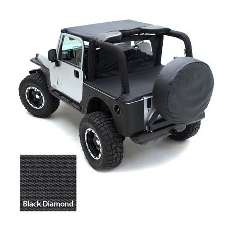 Tonneau Cover black Smittybilt - Jeep Wrangler LJ 04-06