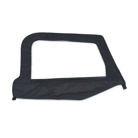 Replacement Upper Doorskin with Frame Black Denim Driver Side Smittybilt - Jeep Wrangler TJ