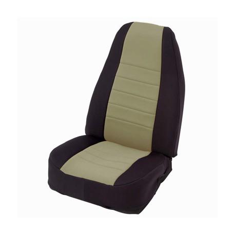 Front Seat Covers Neoprane Tan-Black Smittybilt - Jeep Wrangler TJ 03-06