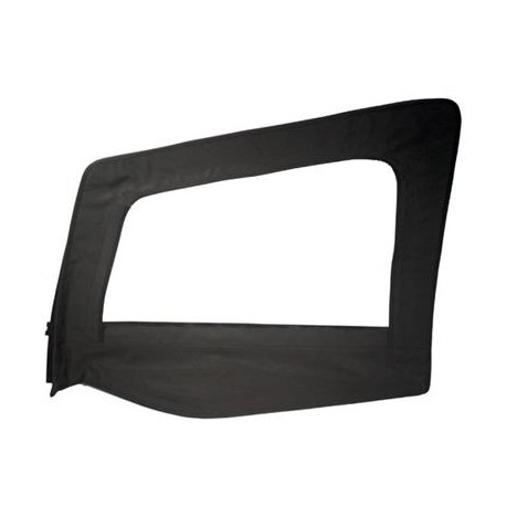 Replacement Upper Doorskin with Frame Black Denim Driver Side Smittybilt - Jeep Wrangler YJ