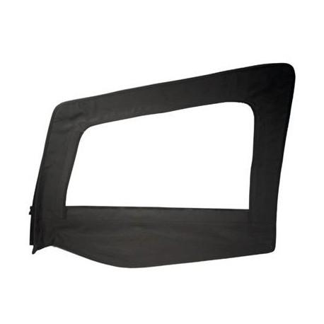 Replacement Upper Doorskin with Frame Black Denim Driver Side Smittybilt - Jeep Wrangler YJ