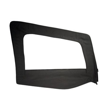 Replacement Upper Doorskin with Frame Black Denim Passenger Side Smittybilt - Jeep Wrangler YJ