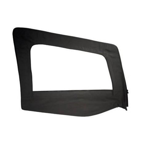 Replacement Upper Doorskin with Frame Black Denim Passenger Side Smittybilt - Jeep Wrangler YJ