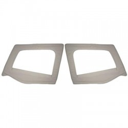 Replacement Upper Doorskins with Frame Gray Denim Smittybilt - Jeep Wrangler YJ