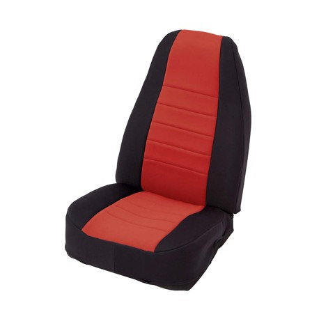 Front Seat Covers Neoprane Red-Black Smittybilt - Jeep Wrangler JK 07-12