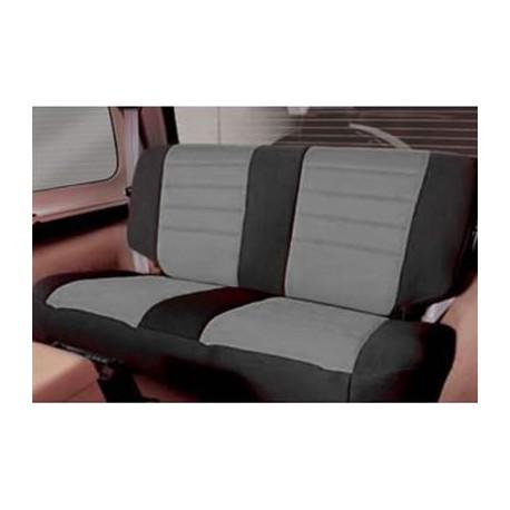 Rear Seat Cover Neoprene Gray-Black Smittybilt - Jeep Wrangler JK 4D 13-15