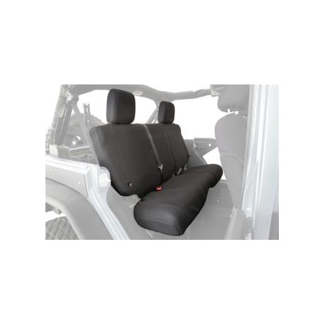 Rear Seat Cover Black Smittybilt G.E.A.R. - Jeep Wrangler JK 4D 08-12