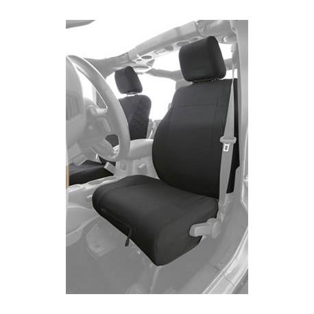 Custom Fit Front Seat Covers Black Smittybilt G.E.A.R. - Jeep Wrangler JK 13-15
