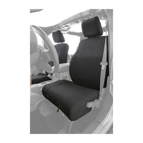 Custom Fit Front Seat Covers Black Smittybilt G.E.A.R. - Jeep Wrangler JK 07-12