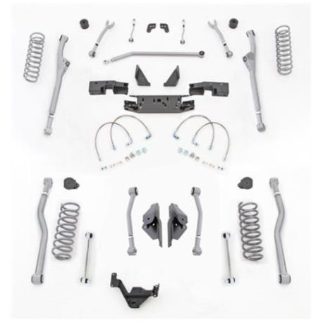 "3,5"" Extreme Duty Long Arm Lift Kit Radius Front / 4 Link Rear RUBICON EXPRESS - Jeep Wrangler JK 4 door"