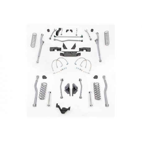 "4,5"" Extreme Duty Long Arm Lift Kit Radius Front / 4 Link Rear RUBICON EXPRESS - Jeep Wrangler JK 4 door"