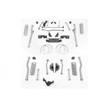 "4,5"" Extreme Duty Long Arm Lift Kit Radius Front / 4 Link Rear RUBICON EXPRESS - Jeep Wrangler JK 2 door"