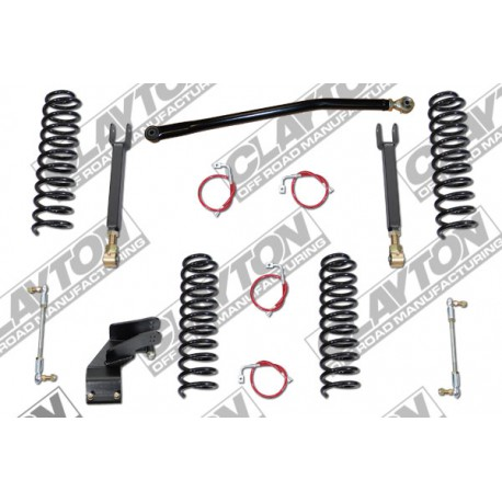 "3,5"" Clayton Off Road Entry Level Lift Kit suspension - Jeep Wrangler JK 4 door"