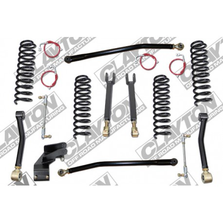 "3,5"" CLAYTON OFF ROAD Entry Level Lift Kit suspension - Jeep Wrangler JK 2 drzwi"