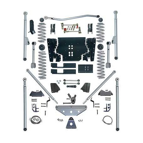 4.5'' Extreme Duty Long Arm Tri-Link Lift Kit Rubicon Express - Jeep Wrangler LJ 04-06