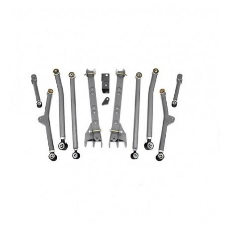 "4"" - 6'' Long Arm Rough Country Upgrade Lift Kit - Jeep Wrangler TJ"