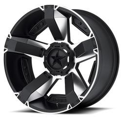 """Hliníkový disk 8x17"""" 5x127/5x139,7 ET10 XD 811 Rockstar II černý/stříbrný - Dodge Ram 1500"""