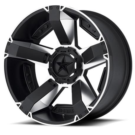 """Felga aluminiowa 8x17"""" 5x127/5x139,7 ET10 XD 811 Rockstar II Czarna/Srebrna - Dodge Ram 1500"""