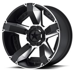 """Hliníkový disk 9x18"""" 5x127/5x139,7 ET10 XD 811 Rockstar II černý/stříbrný - Dodge Ram 1500"""