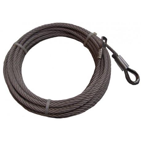 Nerezové lano do navijáku 12 mm s očnicí