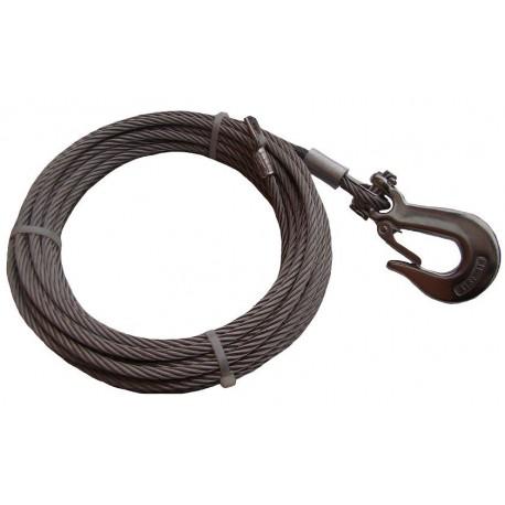 Nerezové lano do navijáku 4 mm s rozebíratelným hákem
