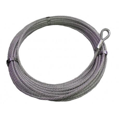 Nerezové lano do navijáku 4 mm s očnicí B