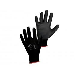 Rukavice BRITA, povrstvené, černé, vel. 10
