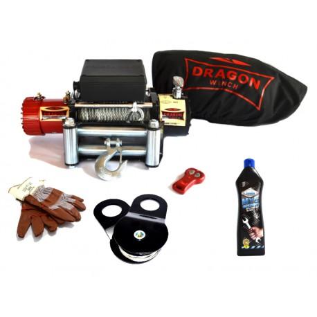 Naviják Dragon Winch Maverick DWM 13000 ST, 12V, ocelové lano - zvýhodněná sada