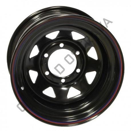 4MAD Černé ráfky 17x8 Et0 (6x139,7) X-F+10 CB 106,1