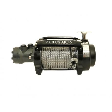 Hydraulický naviják Husarwinch BST Industrial 15000, 24V, ocelové lano