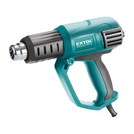 Extol INDUSTRIAL pistole horkovzdušná s plynulou regulací teploty a proudu vzduchu, 2000W (8794800)