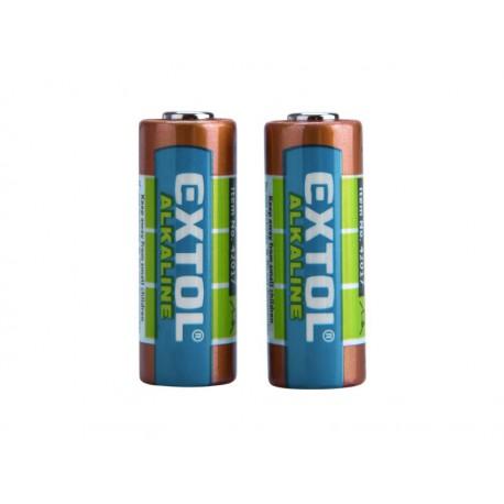 Extol ENERGY baterie alkalické, 2ks, 12V (23A) (42017)